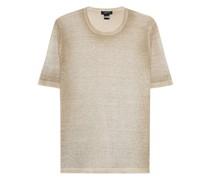 Strick-T-Shirt aus Leinen-Mix