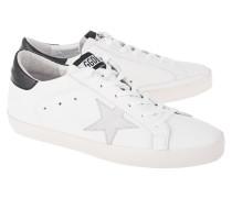 Flache Leder-Snneaker  // Superstar Black White