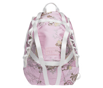 Floraler Nylon-Rucksack  // Parachute Silver Pink Jacquard