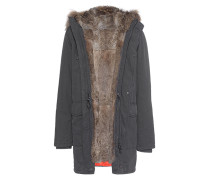 Parka mit Fell-Futter  // Rabbit Anthracite