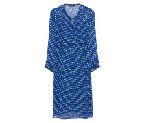 Plissiertes Kleid  // Fish Eye Print Blue