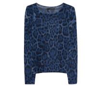 Kaschmir-Pullover im Leo-Look  // Freya Navy Black Leo