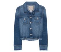 Jeansjacke mit fransigem Saum  // Dari Indigo Blue