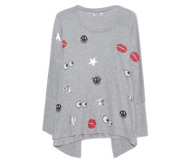 Oversize-Sweatshirt mit Print  // Mira Oversize Heather Grey