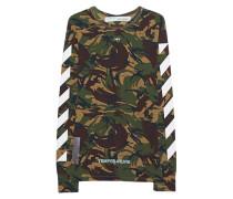 Gemustertes Baumwoll-Langarmshirt  // Diag Long Camouflage