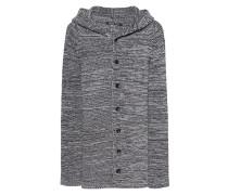 Kaschmir-Schurwoll-Strickjacke  // Knit Hood Grey