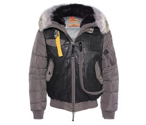 Daunenjacke mit Fell-Besatz  // Grizzly Grey