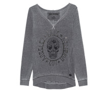 Crew Fleece Skull Jet Black