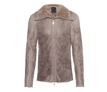 Cracked Shearling Beige