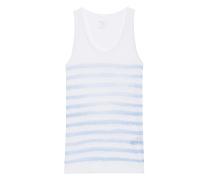 Leinen-Tanktop  // Stripe Courte Blue White