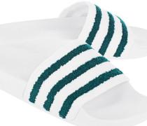 Badeslipper mit Fußbett  // Adilette Terry White/Green