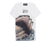 T-Shirt mit Print  // Sharks White