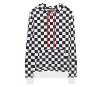 Baumwoll-Hoodie mit Schach-Muster  // Check Star Black White