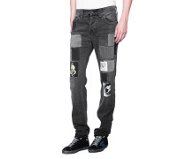 Jeans im Patchwork-Design  // Rocco Patched Black
