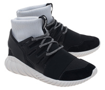 Hohe Leder-Sneakers  // Tubular Doom Black