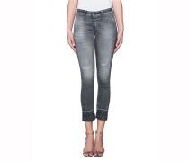 Cropped-Jeans im Destroyed-Look  // Starlet Grey