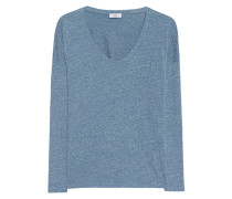 Baumwoll-Mix Longsleeve  // Relaxed Blue
