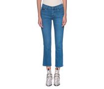 Mid Rise Straight-Leg Jeans