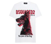Baumwoll T-Shirt mit Print