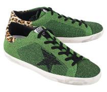 Sneakers mit gestrickter Oberfläche  // Superstar Glamour Green Knitted