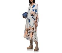 Gemustertes Maxi-Kleid aus Seiden-Mischung