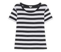 Stripes Tee Black White