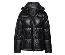 Wattierte Leder-Jacke