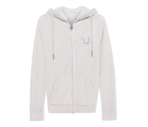 Hooded Zip Jacket Horseshoe Silver Grey