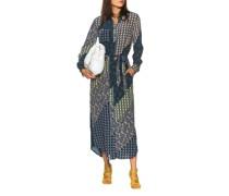 Gemustertes Seiden-Kleid