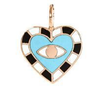 18 Karat Roségold-Anhänger  // Evil Eye Heart Maya Blue