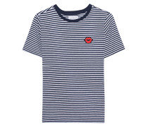 Gestreiftes T-shirt mit Patch