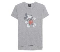 Baumwoll-Mix-Shirt mit Print  // Mickey Heather Grey