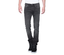 Washed-Out Skinny-Jeans  // Rocco Black Denim