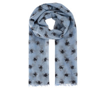 Schal mit Print  // Light Pashmina Bee Blue