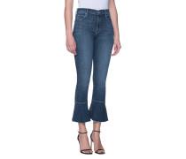 Skinny-Jeans mit Volant-Saum  // The Cha Cha Fray Blue