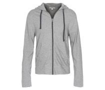 Baumwoll Zipper-Hoodie  // Hood Heather Grey