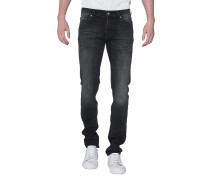 Slim-Fit Jeans im Washed-Look  // Ronnie Luxe Performance Huntley Washed Black
