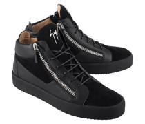 Leder-Sneakers mit Zippern  // May London Uomo Sensory Black