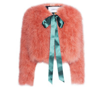 Kurze Feder-Jacke  // Ives Marabou Pink