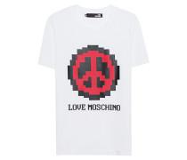 T-shirt mit Print  // Love Moschino White