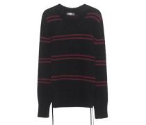 Gestreifter Kaschmirpullover  // Cash Loose Stripes Black