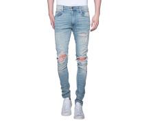 Slim-Fit Jeans im Distressed-Look  // Shotgun Blue