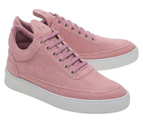 Sneakers aus Leder und Canvas  // Low Top Jenna Pink