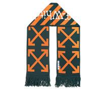 Strick-Schal mit Label-Aufschrift
