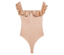 Enger Body aus Seide  // Off Shoulder Virgo Ruffle Rose Gold