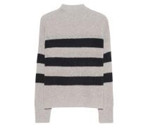 Grobstrick-Pullover aus Kaschmir  // Christean Hazel Black Stripe