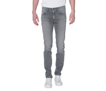 Slim-Fit Jeans im Washed-Look  // Ace Light Grey