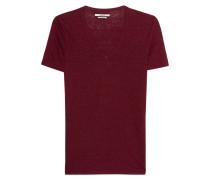 T-Shirt aus Leinen  // Kranger Burgundy