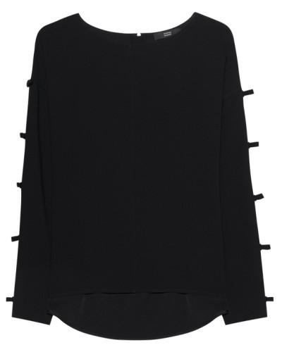 Bluse mit Schleifen-Details  // Bows Black