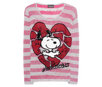 Gestreifter Kaschmir-Pullover mit Strass  // Too Cute Pink Stripes
